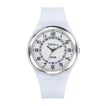 Tekday 654650 Watch - Silicone White Silicone Case White Women's Bracelet