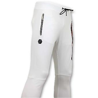 Sweatpants With Print - Sweatpants Skull - White