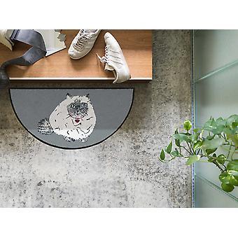 Paillasson Salonloewe Cat Gina 42 x 85 cm tapis de pied de chat semi-circulaire