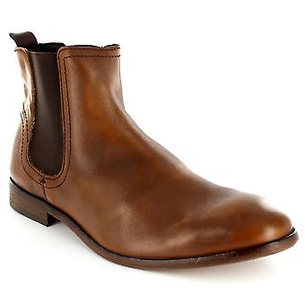 Mens H By Hudson Patterson Smart Leather Pull On Classic Chelsea Boots
