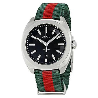 GUCCI YA142305 Red and Green Strap Unisex Watch