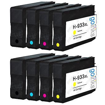2 Go Inks Compatible Set of 4 ter vervanging van HP 932 Printer Ink Cartridge (8 inkten) - Zwart, Cyaan, Magenta, Geel Compatibel / niet-OEM voor HP Officejet Printers