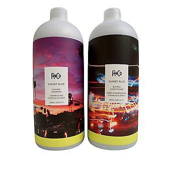 R+Co Sunset Blvd Blonde Shampoo & Conditioner 33.8 OZ Each
