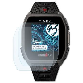 Bruni 2x Screen Protector compatible with Timex Ironman R300 Protective Film