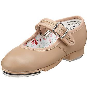 Kids Capezio Girls Mary Jane Leather Slip On Ballet Flats