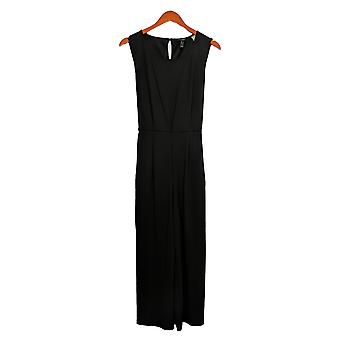 Du Jour Jumpsuits Regular Cropped Wide Leg Knit W/ Tie Waist Black A366218