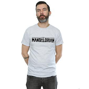 Star Wars män ' s den Mandalorian logo typ T-shirt