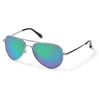 Polaroid P4139 N5Y/K7 Gunmetal/Green Mirror Polarised Sunglasses