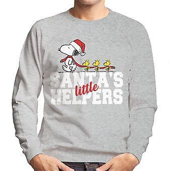 Erdnüsse Snoopy Woodstock Santas kleine Helfer Männer's Sweatshirt