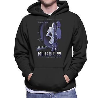 NASA PSO J318 5 22 Interplanetary Travel Poster Men's Hooded Sweatshirt