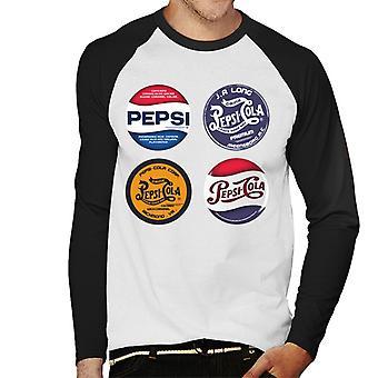 Pepsi retro labels Men's Baseball lange mouwen T-shirt