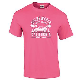 Volkswagen West Coast California Black Text Women's Neon T-Shirt