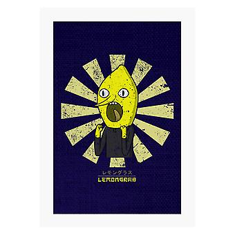 Earl Of Lemongrab Retro Japanese A4 Print