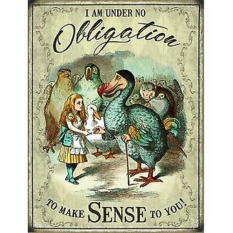 Alice In Wonderland Dodo Metal Wall Sign