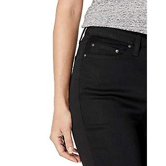 Brand - Daily Ritual Women's High-Rise Skinny Jean-Black, 30 Long