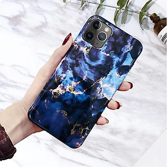 Moskado iPhone 8 Case Marble Texture - Shockproof Glossy Case Granite Cover Cas TPU