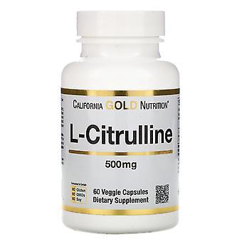 California Gold Nutrition, L-Citrulline, 500 mg, 60 Veggie Capsules