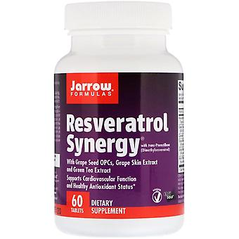 Formules Jarrow, Synergique resvératrol, 60 tablettes