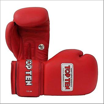 Top ten aiba competition boxing gloves red 10oz