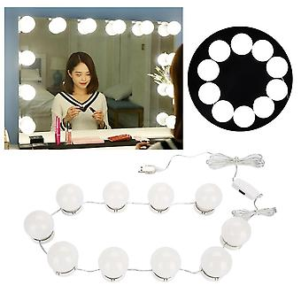 10 Pærer Makeup Mirror med led light, Vanity Mirror, Usb opladning Port