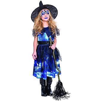 Hexe Lotta Mädchenkostüm Karneval Halloween Hexenkleid Witch Kinder