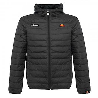 Ellesse Lombardy Quilted Black Hooded Puffer Jacket