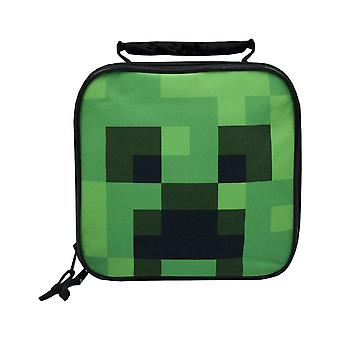 Minecraft Creeper Face Kids /Boys Lunch Box School Food Container Children-apos;s Bag
