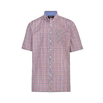 Espionage Navy Red & Tan Check Shirt