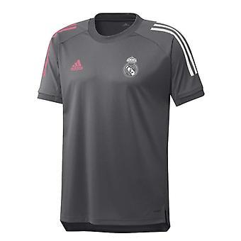2020-2021 ريال مدريد أديداس التدريب قميص (رمادي) - أطفال