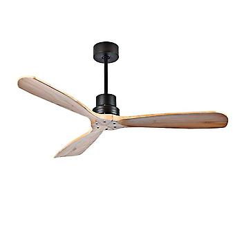 Wood Ceiling Fans With Lights Remote Control For Home, Hotels