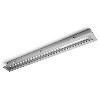 1 Light T5 Recessed Strip Outdoor Ceiling Light Grey IP54