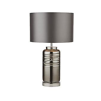 Lampe de table Lampe fumée Verre strié à l'ombre grise