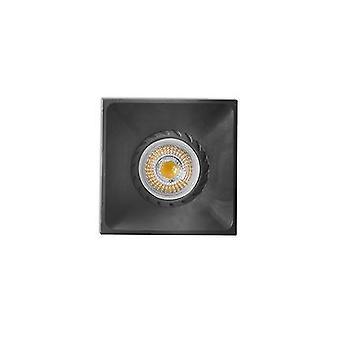Faro Neon - Czarny wpuszczony Downlight 1x GU10 Square