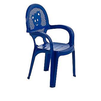 Resol Mini Kids Garden Chair - Plastic Outdoor Play Bedroom Children's Furniture - Blue