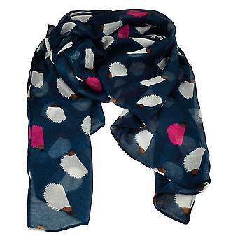 Ties Planet Hedgehog Animal Print Navy Blue Lightweight Kvinder & apos;s sjal tørklæde