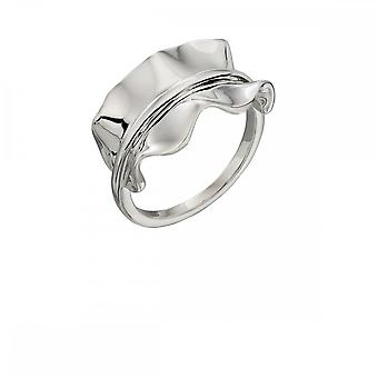Elements Silver Plain Silver Ruffle Ring R3576