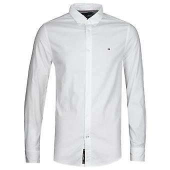 Tommy Hilfiger White Slim Fit Oxford Shirt