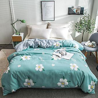 dual-sided Duvet Cover  soft Comfortable Cotton Printing Comforter -textiles Quilt Cover set 9