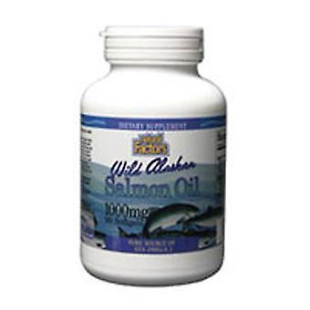 Luonnolliset tekijät Luonnonvarainen Alaskan lohiöljy, 1000 mg, 90 Softgels