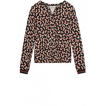 Sandwich Clothing Patterned Jersey Top