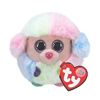 TY Puffies - Rainbox the Poodle Plush Toy