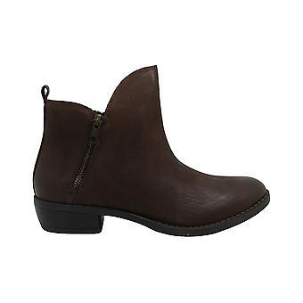 Mia Womens Genovieve Leather Almond Toe Ankle Fashion Boots