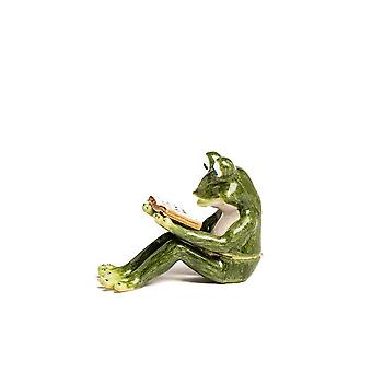 Frog Reading A Book - Trinket Box