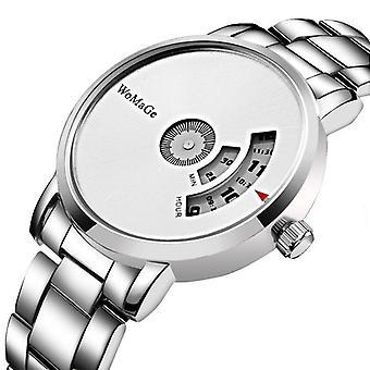 Fashion Creative Dial Stainless Steel Band  women Quartz Watch