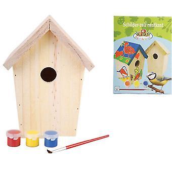 Esschert Design Birdhouse for maling 14.8x11,7x20 cm KG145