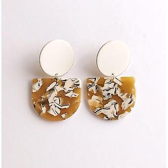 Half Oval Valley Earrings