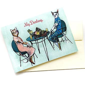 My Darling- Picnic Cats Card