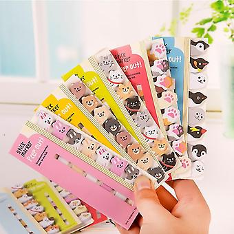 Kawaii  Animal Memo Pad, Bookmarks Creative Cute Sticky Notes  (1 Package