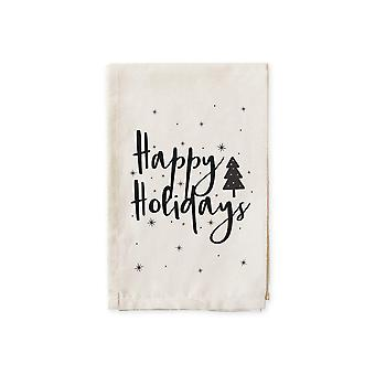 Happy Holidays-cotton Muslin Napkins