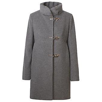 Fay Naw5041y050shwb401 Women's Grey Wool Coat
